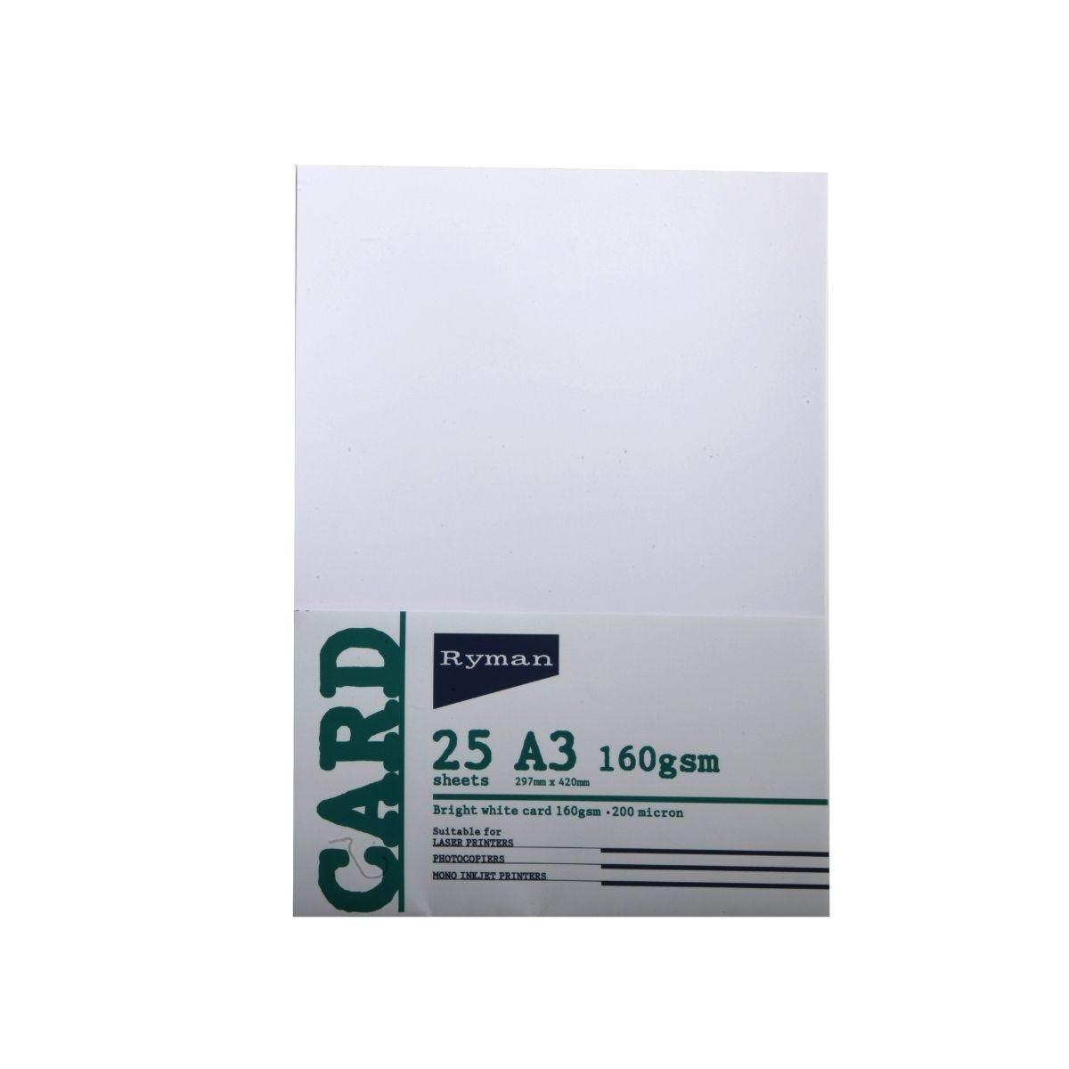 Ryman Card  A3 160gsm 25 Sheets