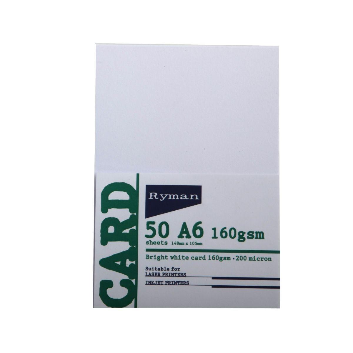 Ryman Card A6 160gsm 50 Sheets