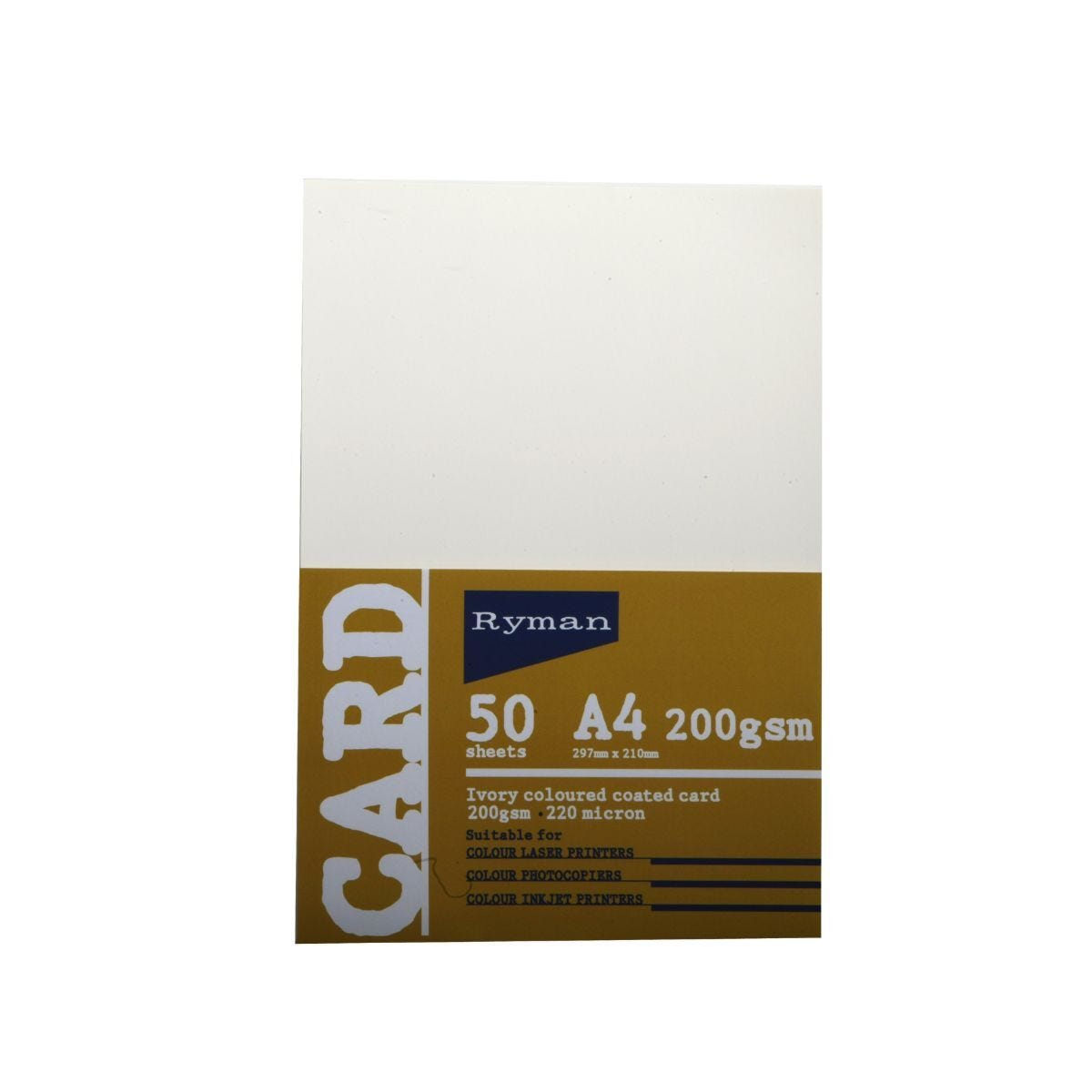 Ryman Card A4 200gsm  50 Sheets Ivory