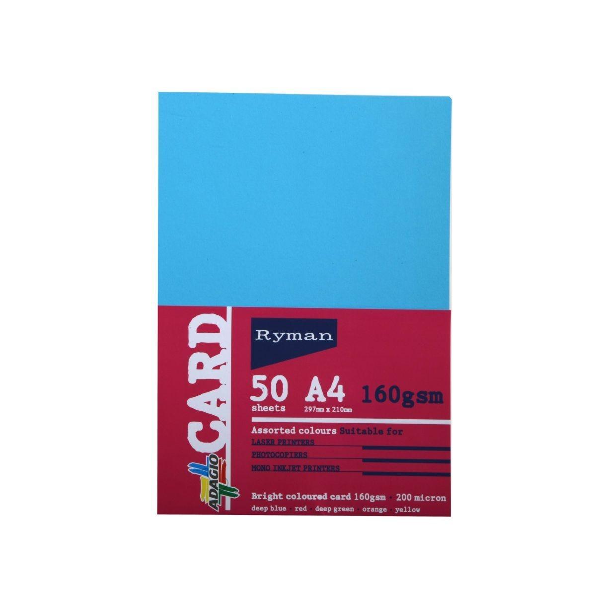 Ryman Adagio Card A4 160gsm 50 Sheets