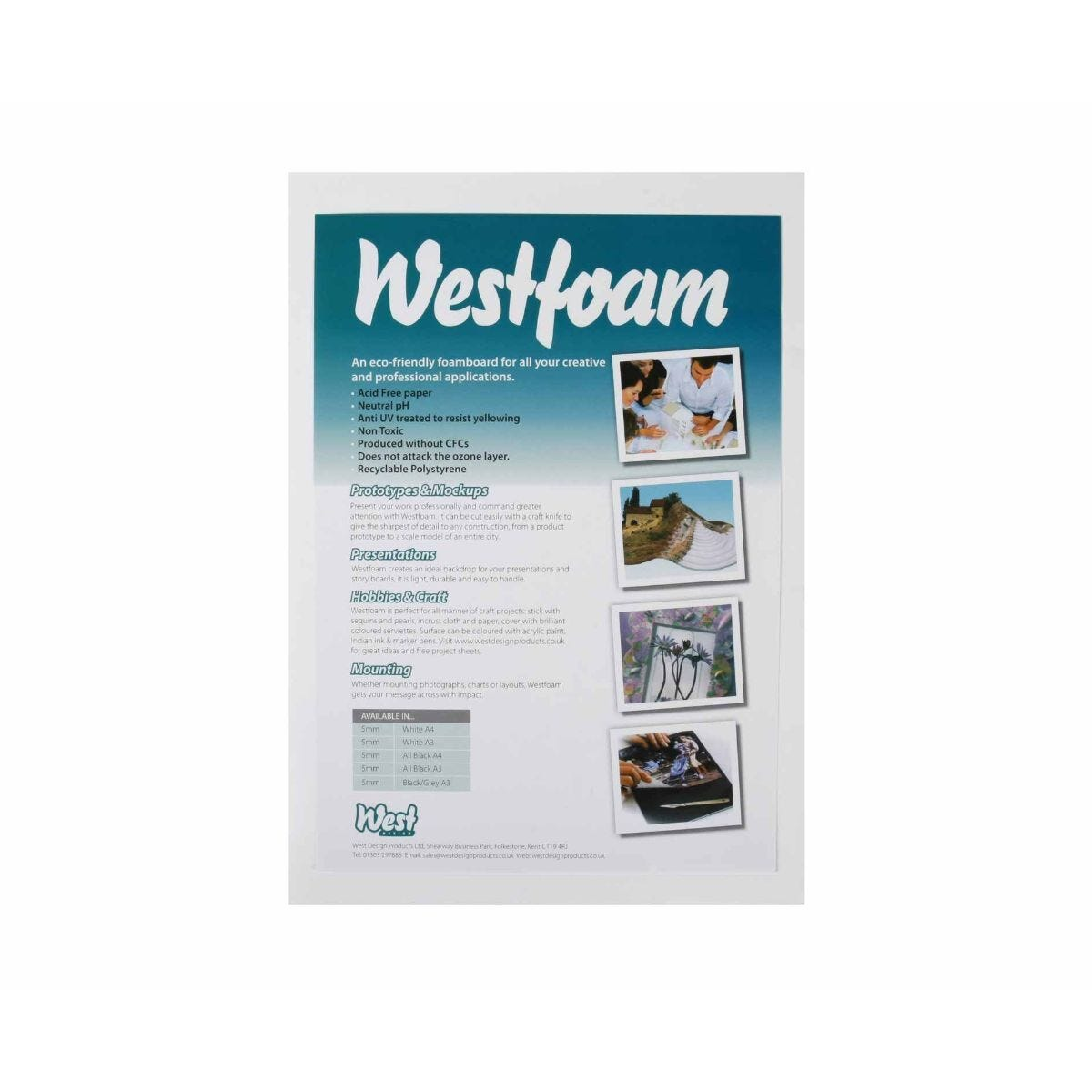Cathedral Foam Board A4 5mm Recyclable 5 Sheets
