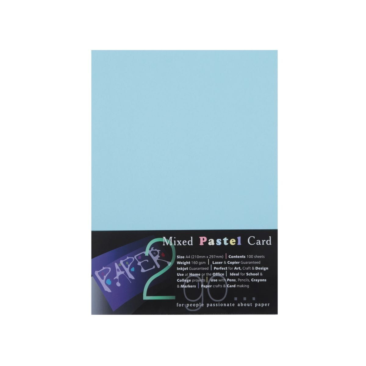 Paper2go Rainbow Card Pastel A4 160gsm Pack 100