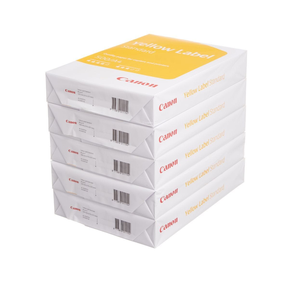 Canon Copier Paper  A4 80gsm 500 Sheets Box of 5 Reams of Paper