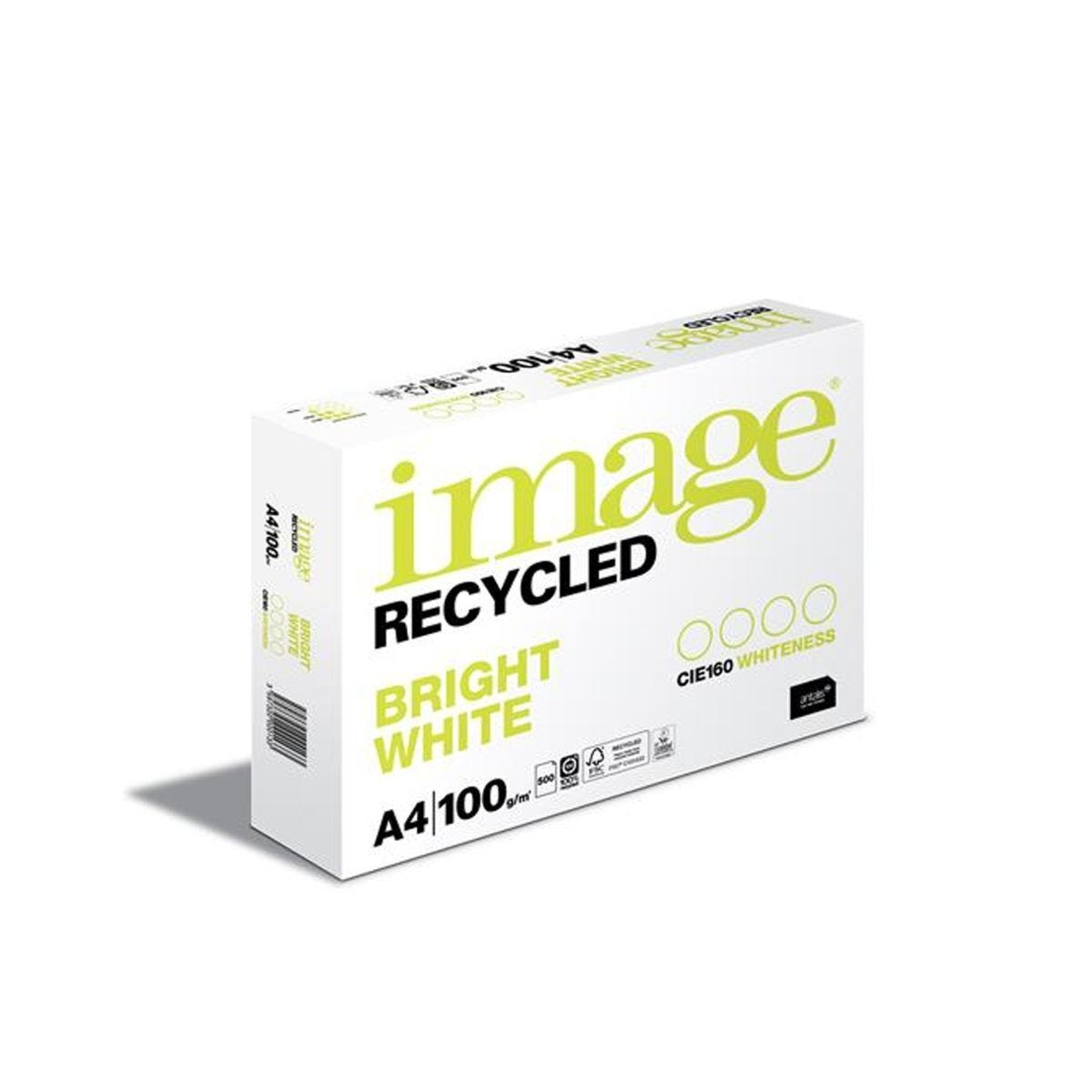 Image Recycled Bright White Copier Paper A4 Ream 80gsm