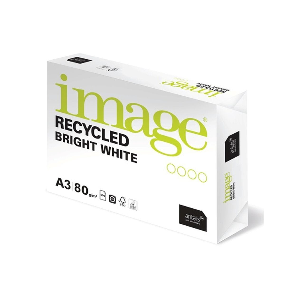 Image Recycled Bright White Copier Paper A3 Ream 80gsm