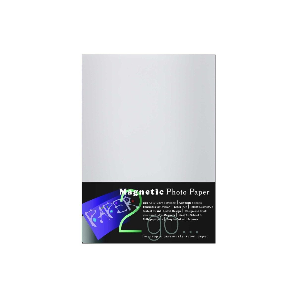 Paper 2 Go Magnetic Ink 5 Sheets 210x297 mm 305 micron