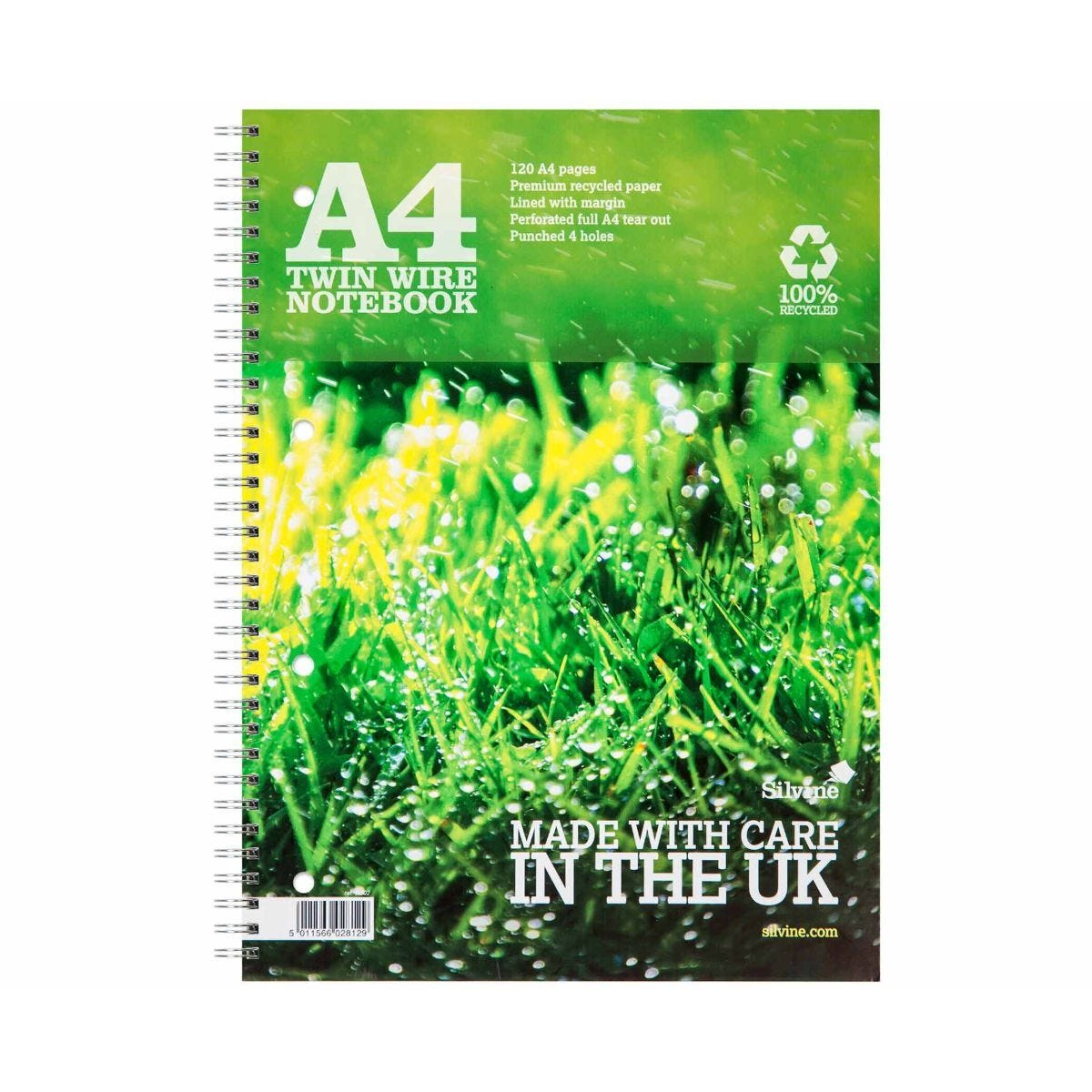 Silvine Premium Recycled Notebook A4 Pack of 5