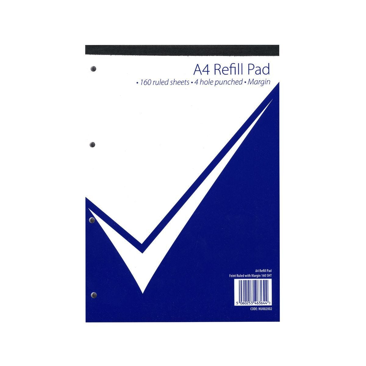 Nu Office Refill Pad A4 Ruled With Margin 160 Pages