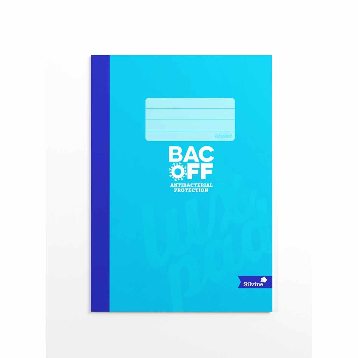 Silvine Luxpad BACOFF Notebook A4 Ruled 80 Pages Assorted