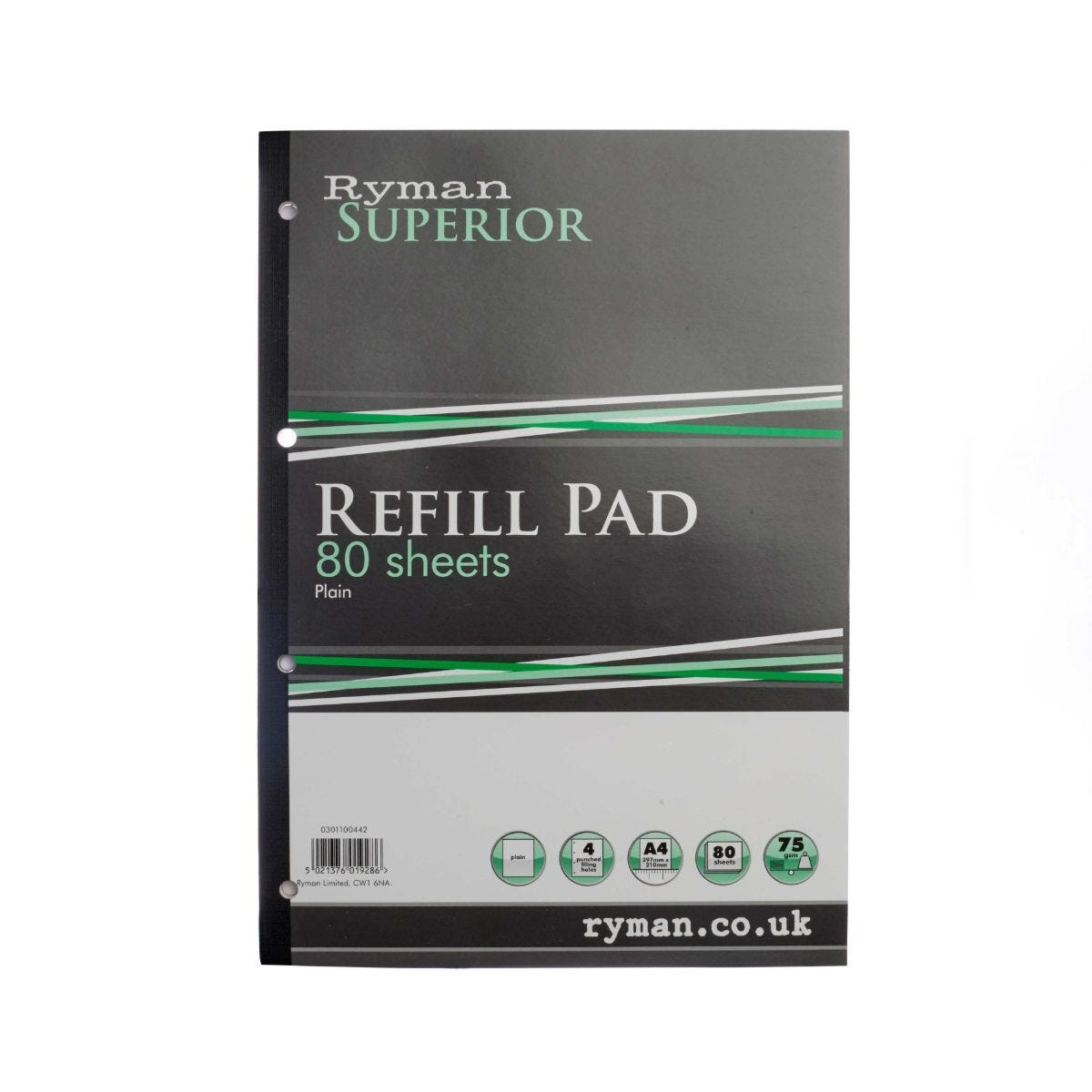 Ryman Superior Pad A4 Plain 160 Pages 80 Sheets