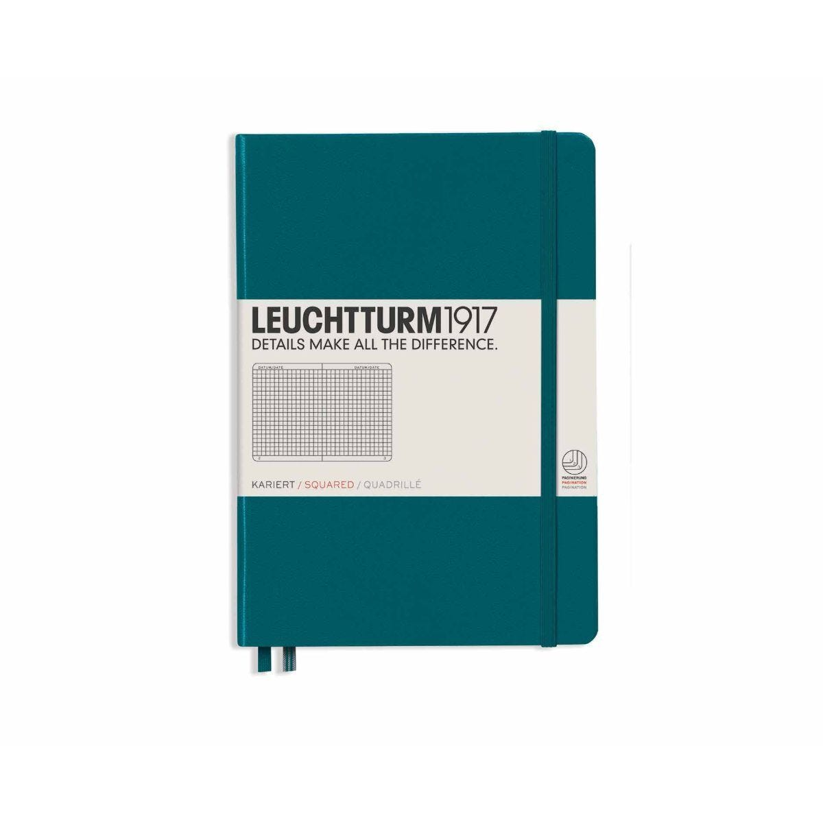 Leuchtturm 1917 Notebook Squared A5 Pacific Green