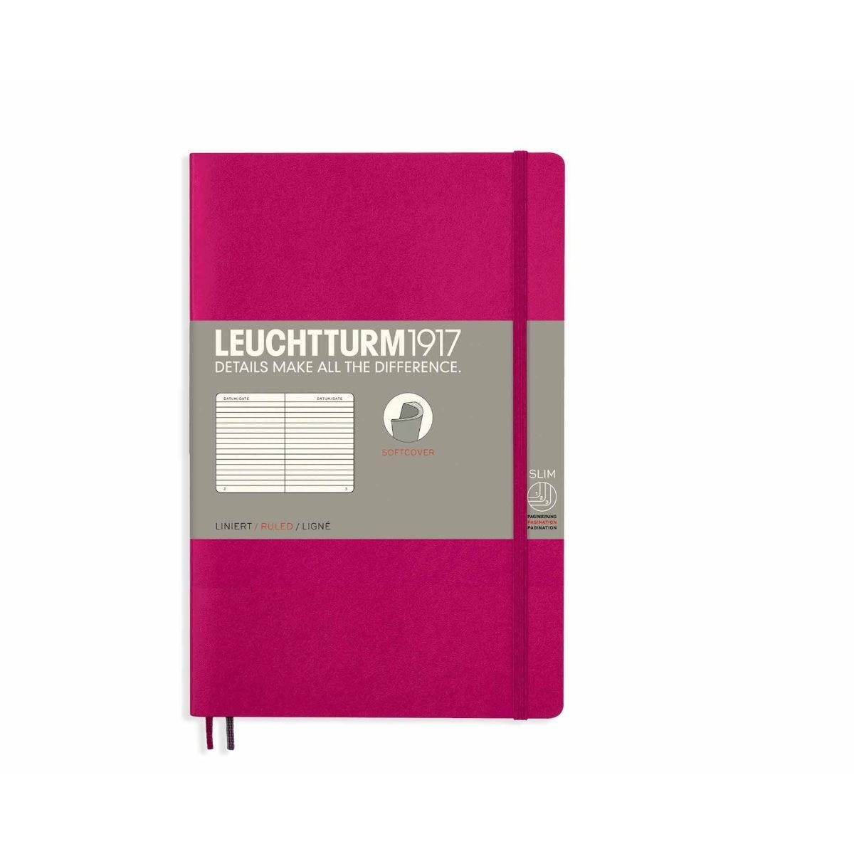 Leuchtturm1917 Soft Cover Notebook Ruled B6 Plus Berry