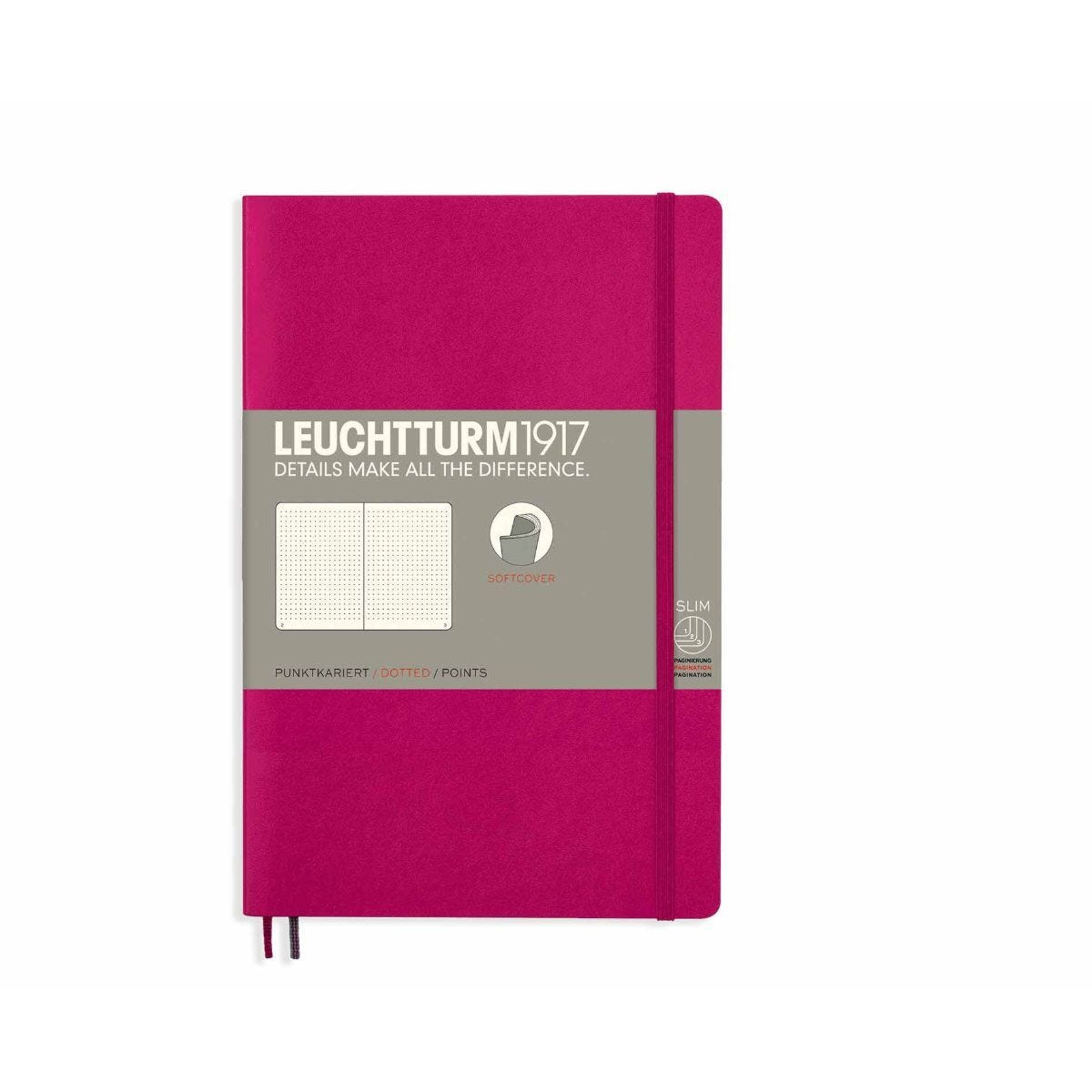 Leuchtturm1917 Soft Cover Notebook Dotted B6 Plus Berry