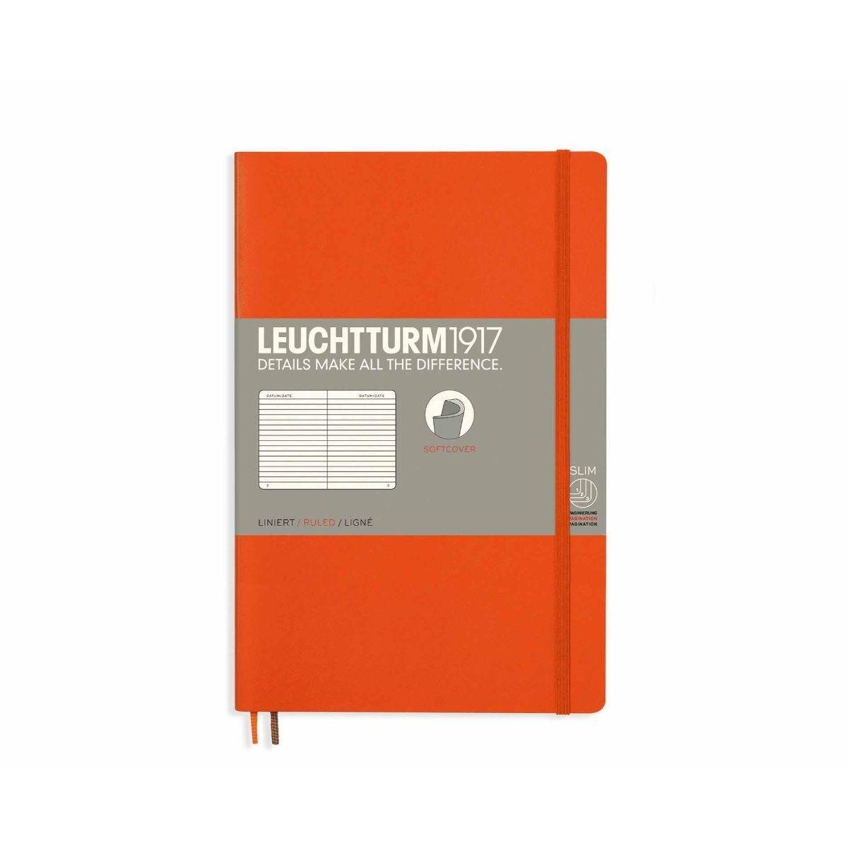 Leuchtturm1917 Soft Cover Notebook Ruled B6 Plus Orange