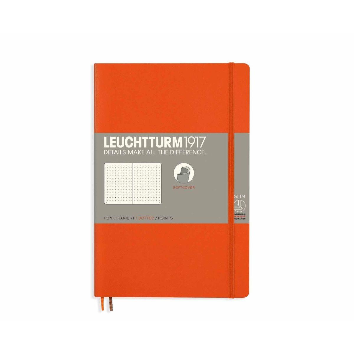 Leuchtturm1917 Soft Cover Notebook Dotted B6 Plus Orange