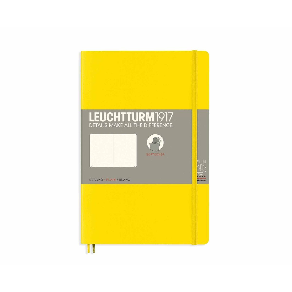 Leuchtturm1917 Soft Cover Notebook Plain B6 Plus Lemon