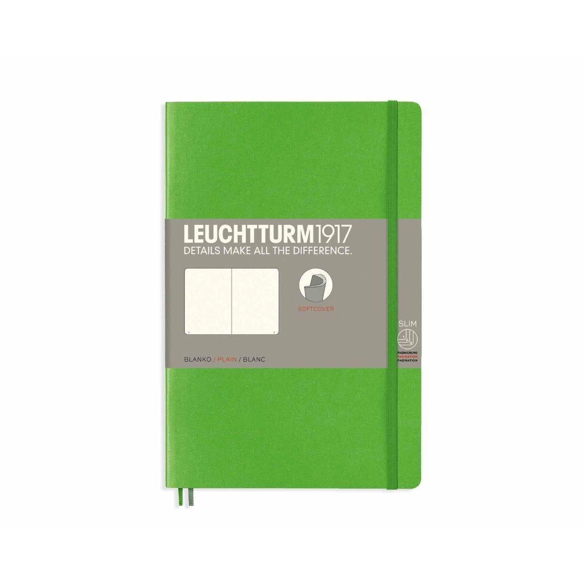 Leuchtturm1917 Soft Cover Notebook Plain B6 Plus Fresh Green