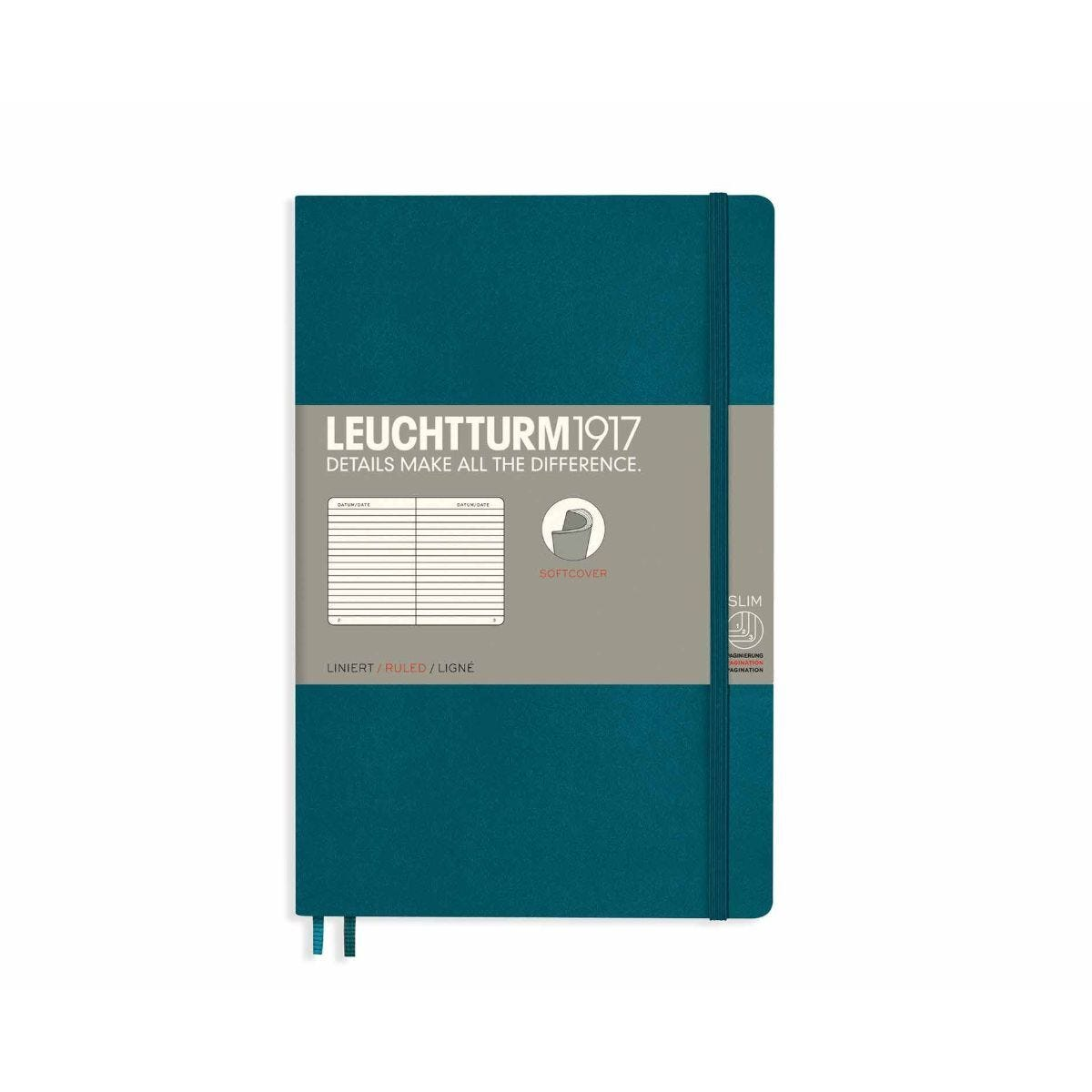Leuchtturm1917 Soft Cover Notebook Ruled B6 Plus Emerald