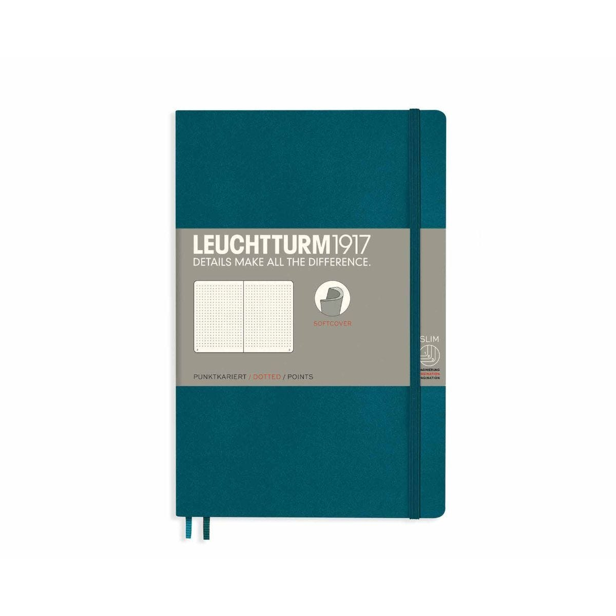Leuchtturm1917 Soft Cover Notebook Dotted B6 Plus Emerald