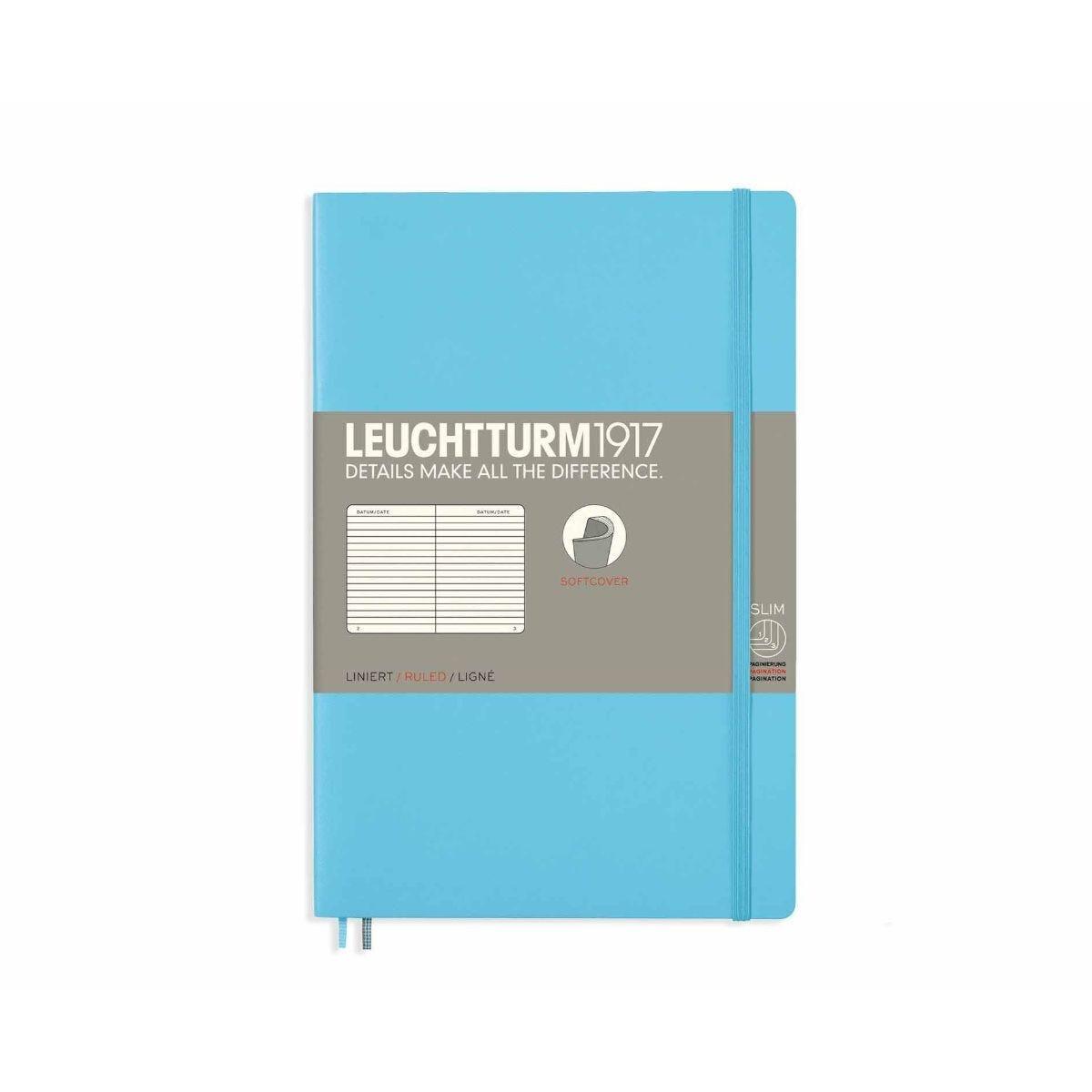 Leuchtturm1917 Soft Cover Notebook Ruled B6 Plus Ice Blue