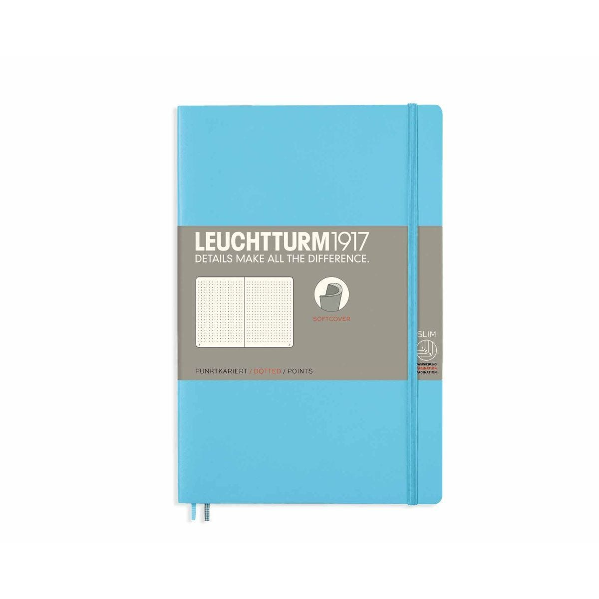 Leuchtturm1917 Soft Cover Notebook Dotted B6 Plus Ice Blue