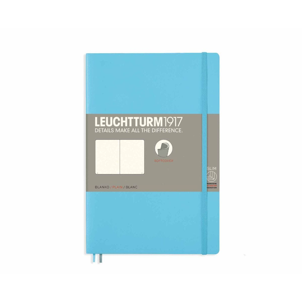 Leuchtturm1917 Soft Cover Notebook Plain B6 Plus Ice Blue
