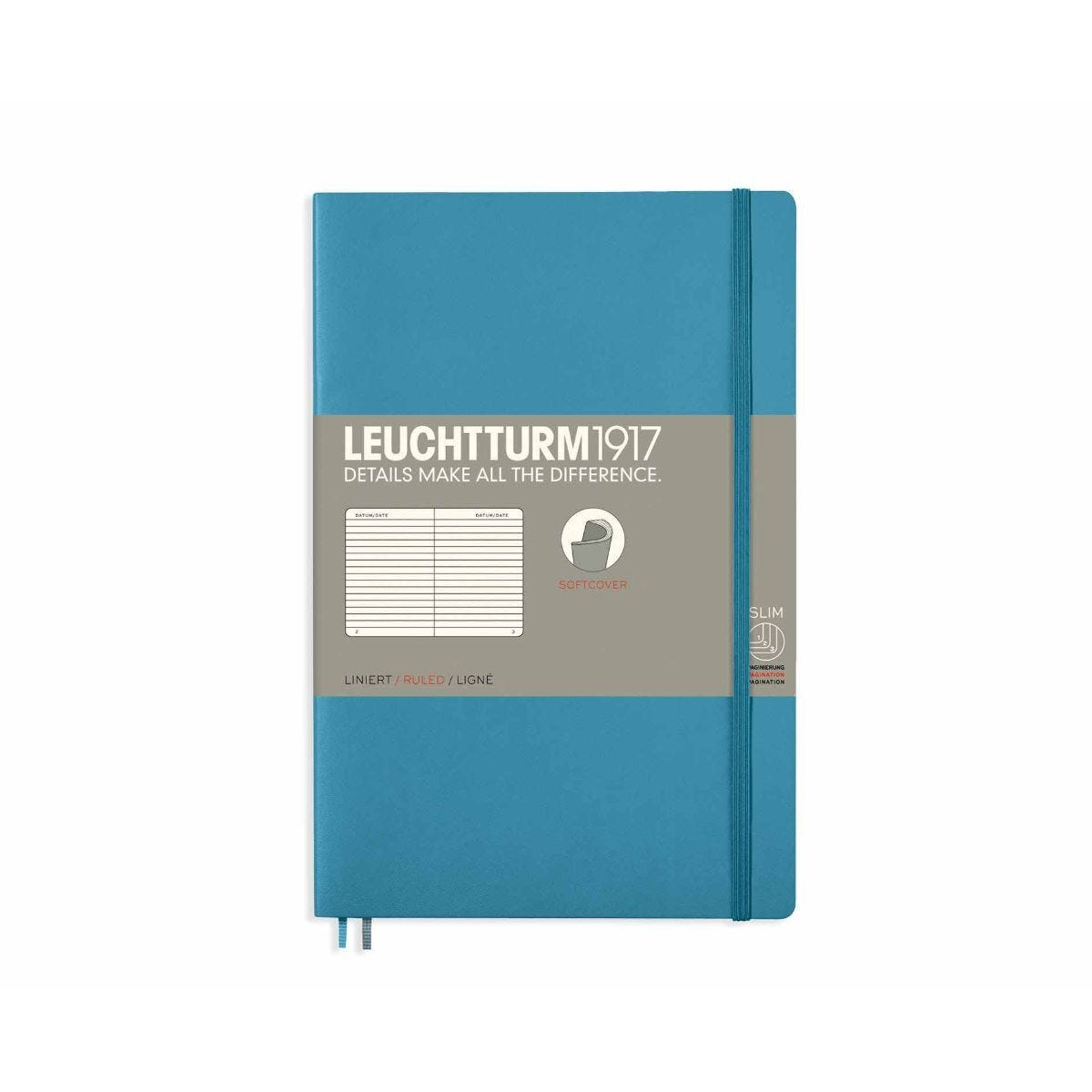 Leuchtturm1917 Soft Cover Notebook Ruled B6 Plus Nordic Blue