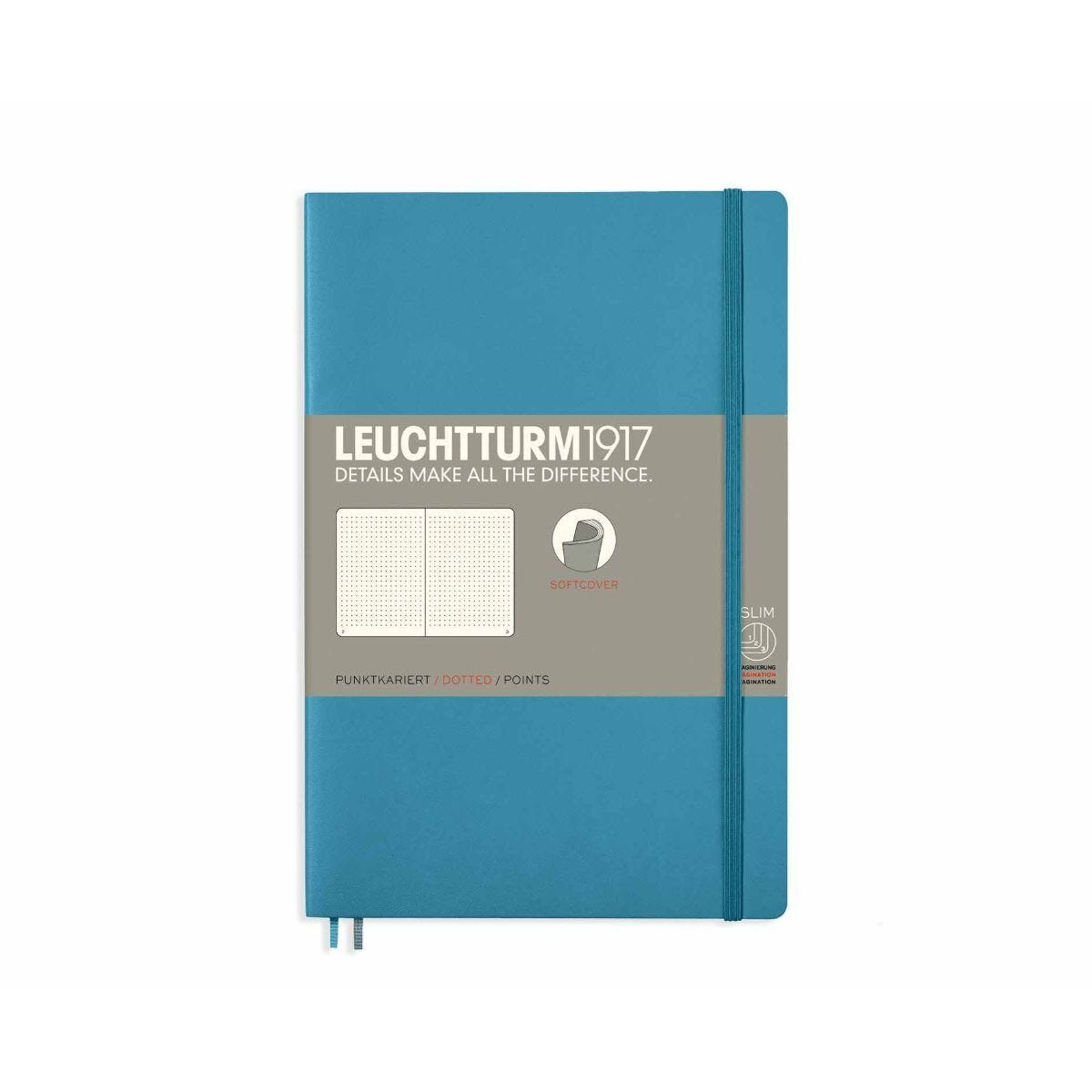Leuchtturm1917 Soft Cover Notebook Dotted B6 Plus Nordic Blue