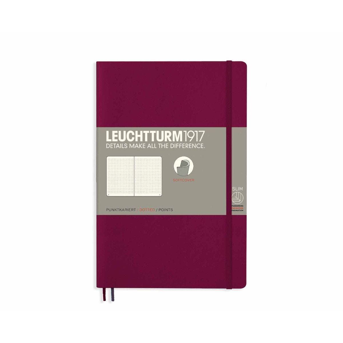 Leuchtturm1917 Soft Cover Notebook Dotted B6 Plus Port Red