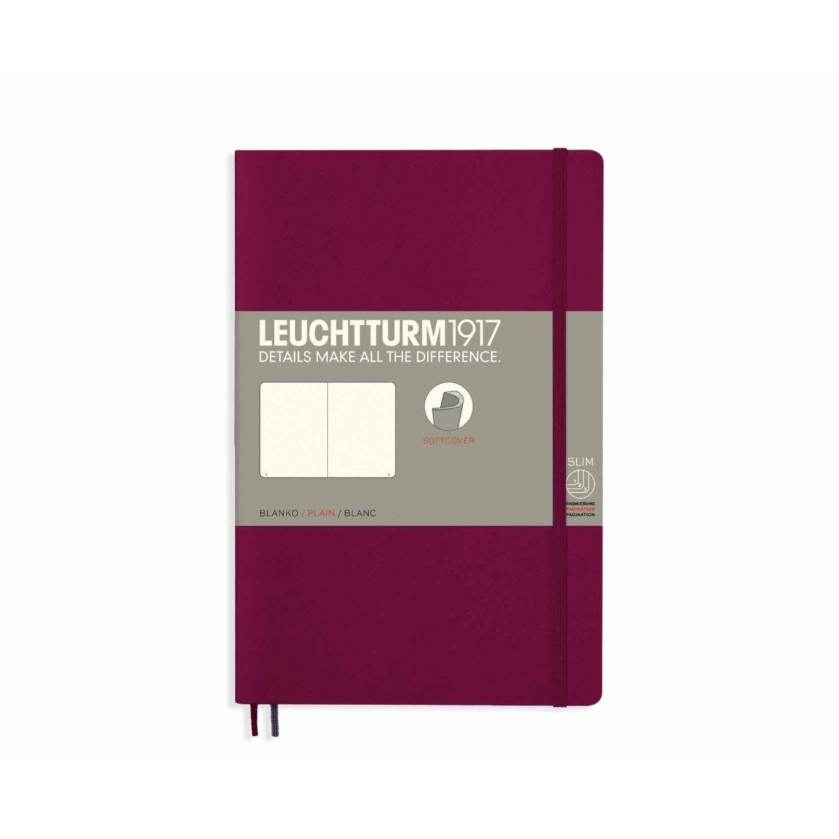 Leuchtturm1917 Soft Cover Notebook Plain B6 Plus Port Red