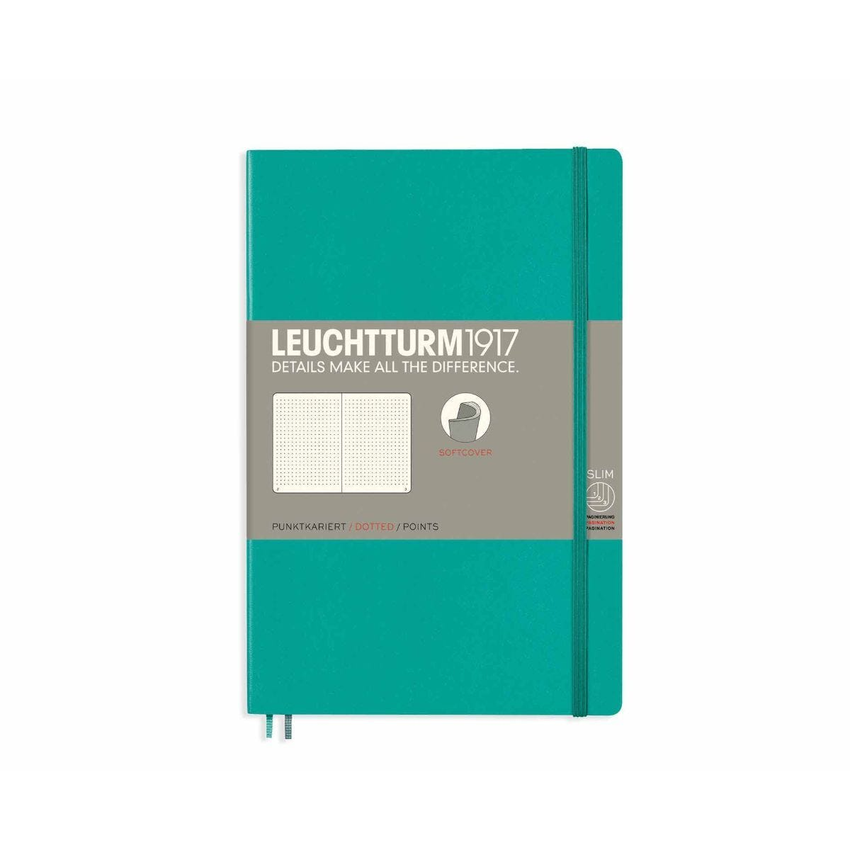 Leuchtturm1917 Soft Cover Notebook Dotted B6 Plus Pacific Green