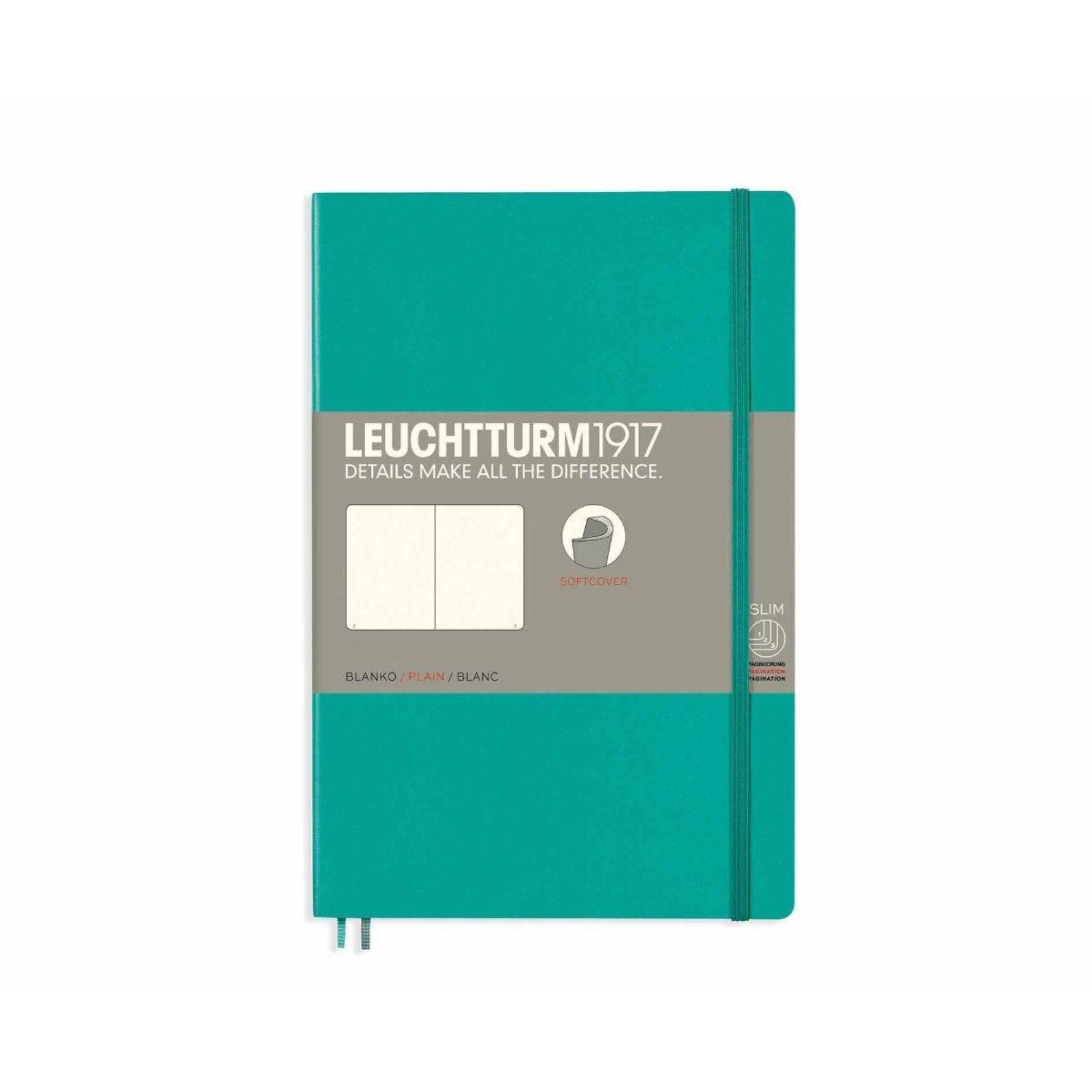 Leuchtturm1917 Soft Cover Notebook Plain B6 Plus Pacific Green