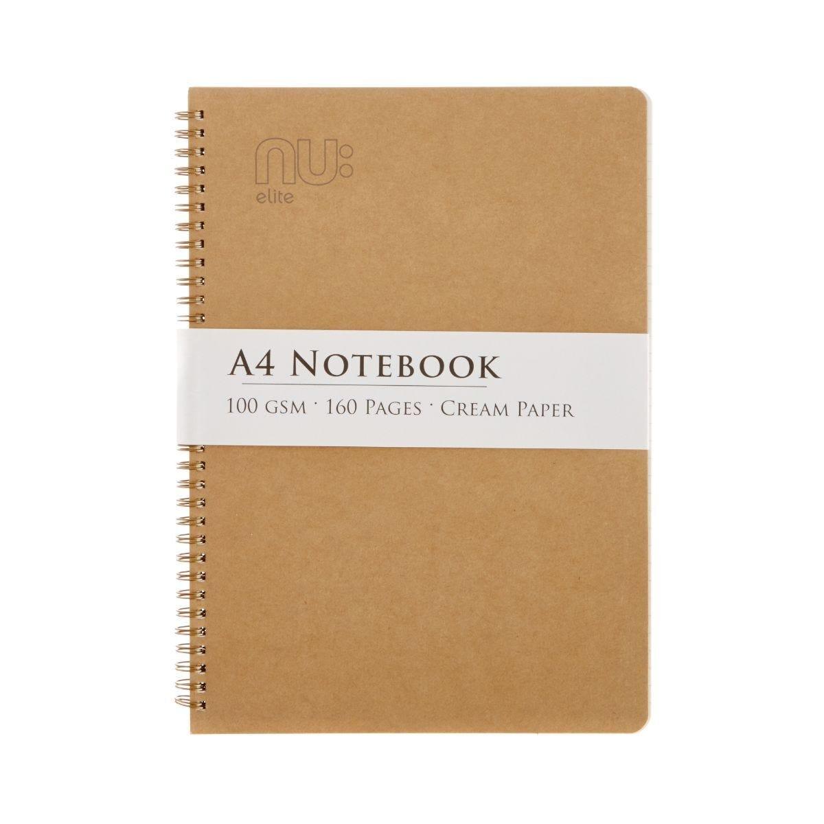 Nu A4 Kraft Wiro Notebook 100gsm 80 Sheets