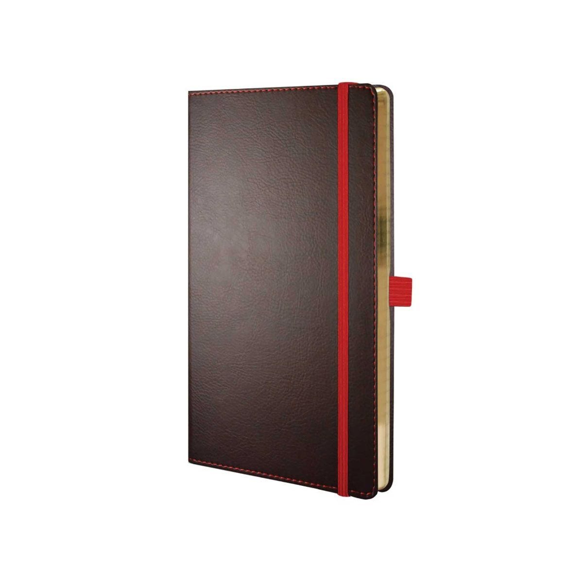 Castelli Ivory Phoenix Notebook Medium Ruled Brown/Red