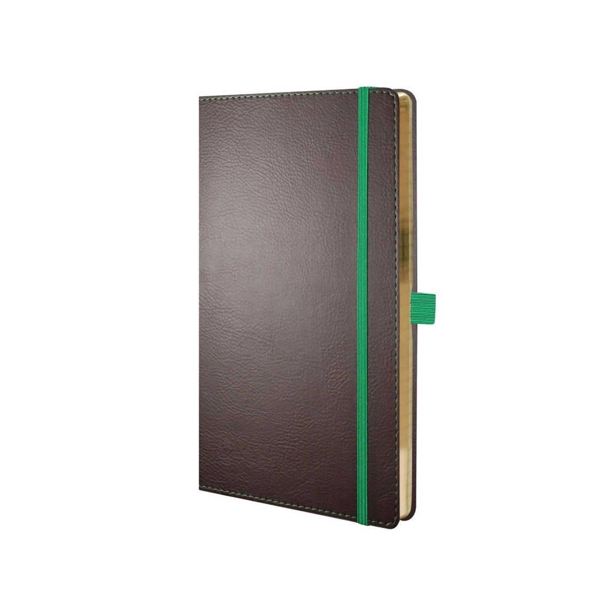 Castelli Ivory Phoenix Notebook Medium Ruled Brown/Green