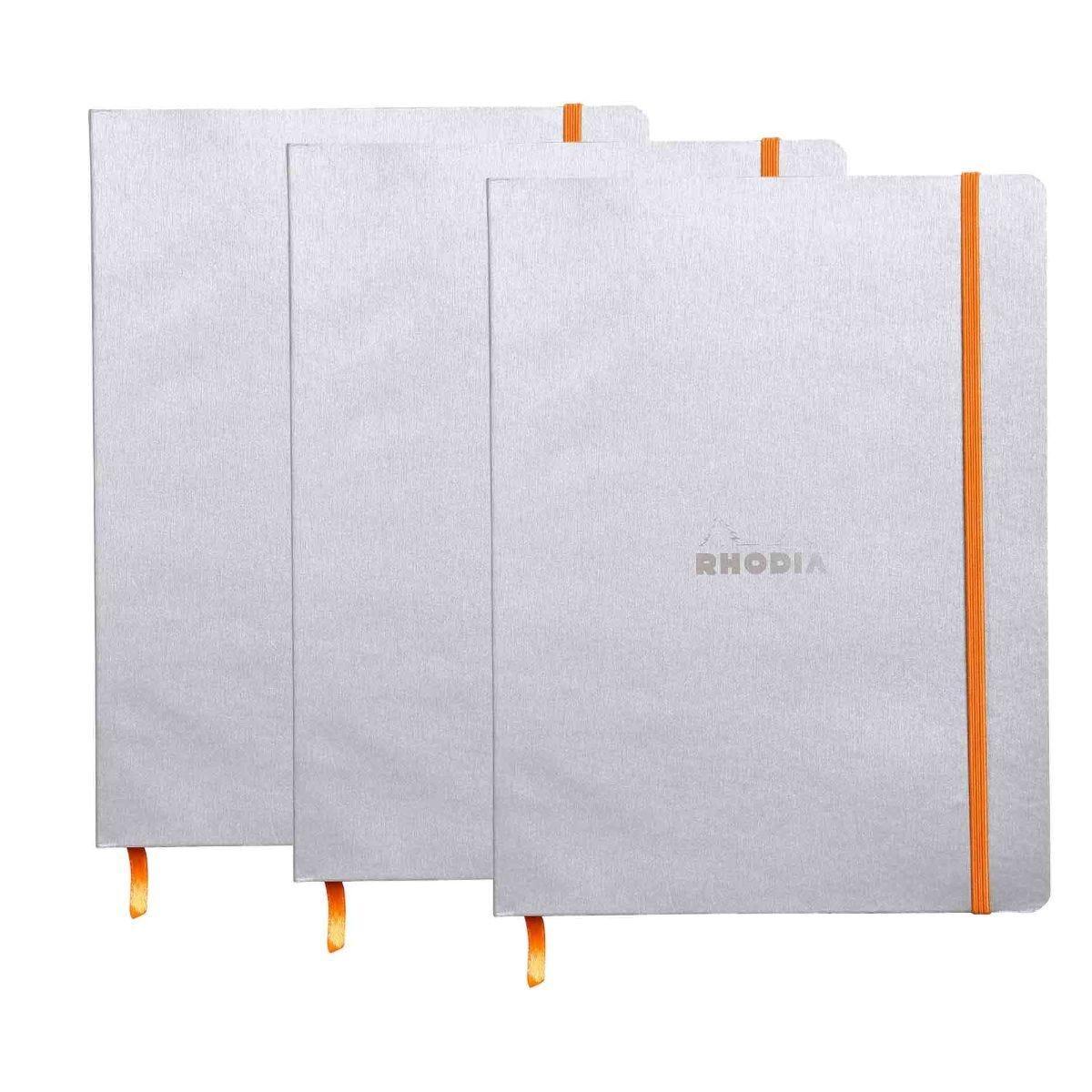 Rhodiarama B5 Ruled Notebook Silver