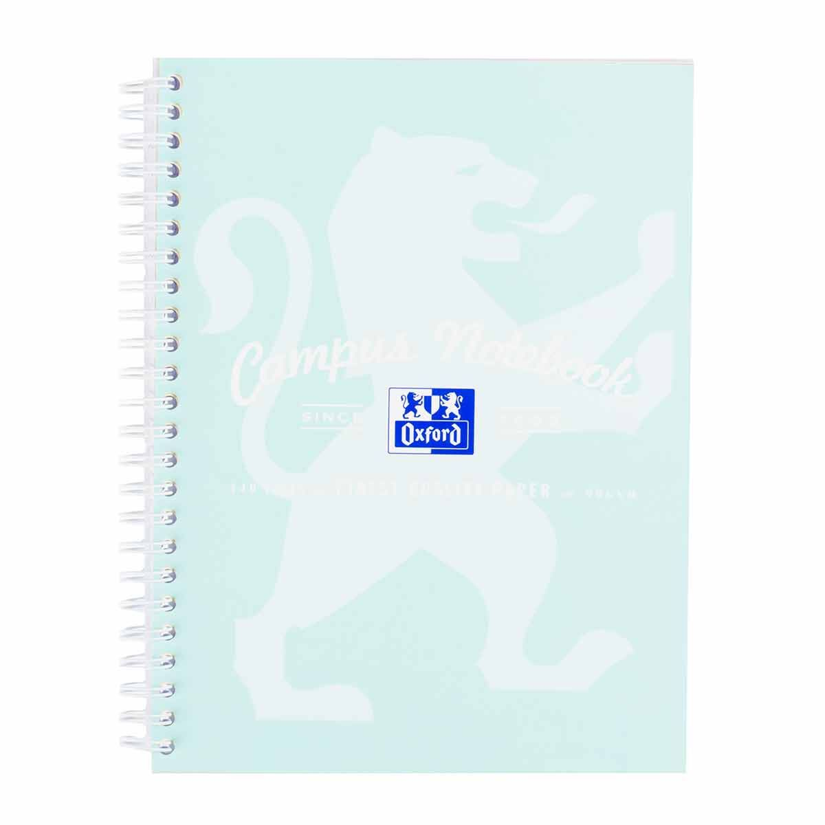 Oxford Campus Pastel A5 Wirebound Notebook Assorted Colours