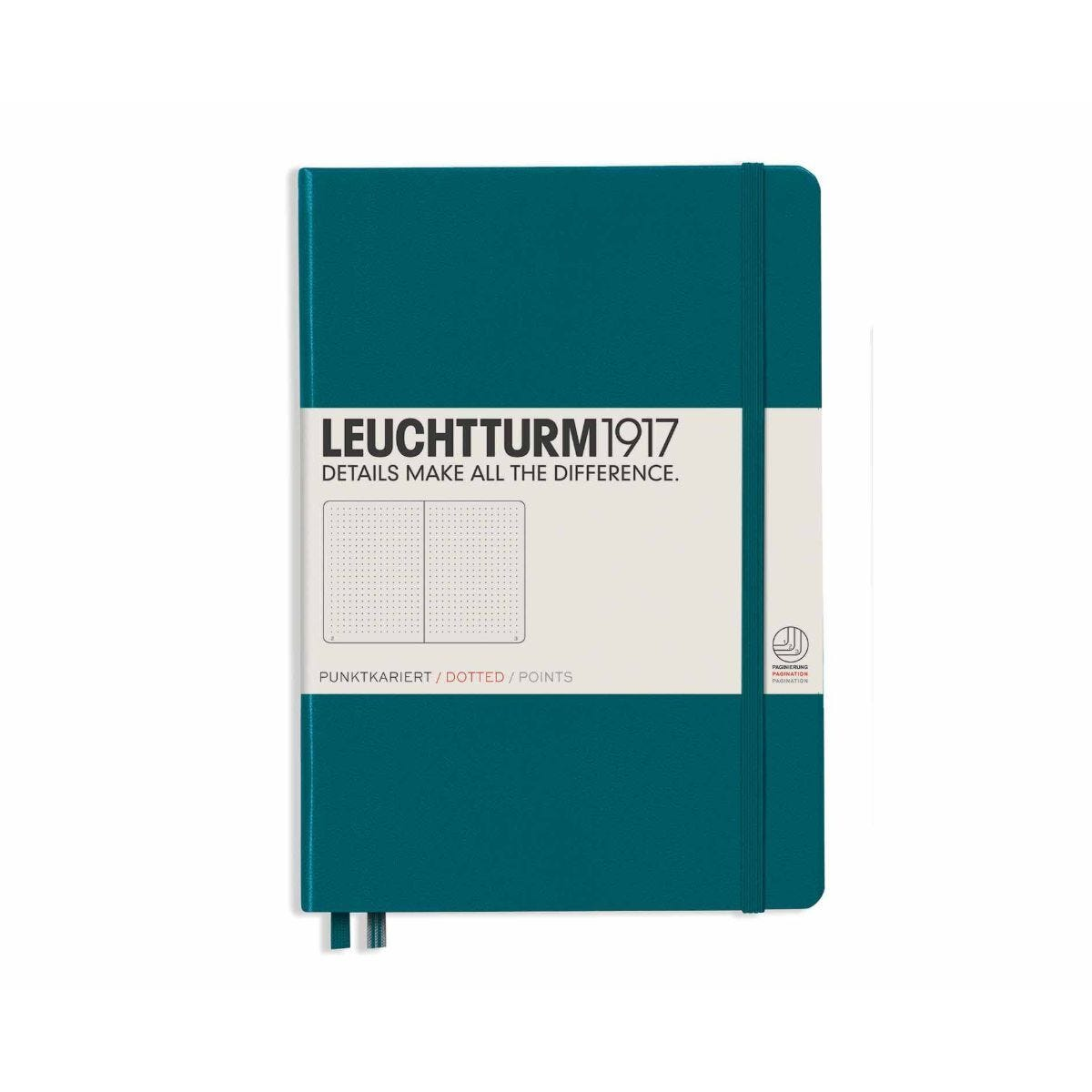 Leuchtturm1917 Hardcover Notedbook Dotted A5 Pacific Green