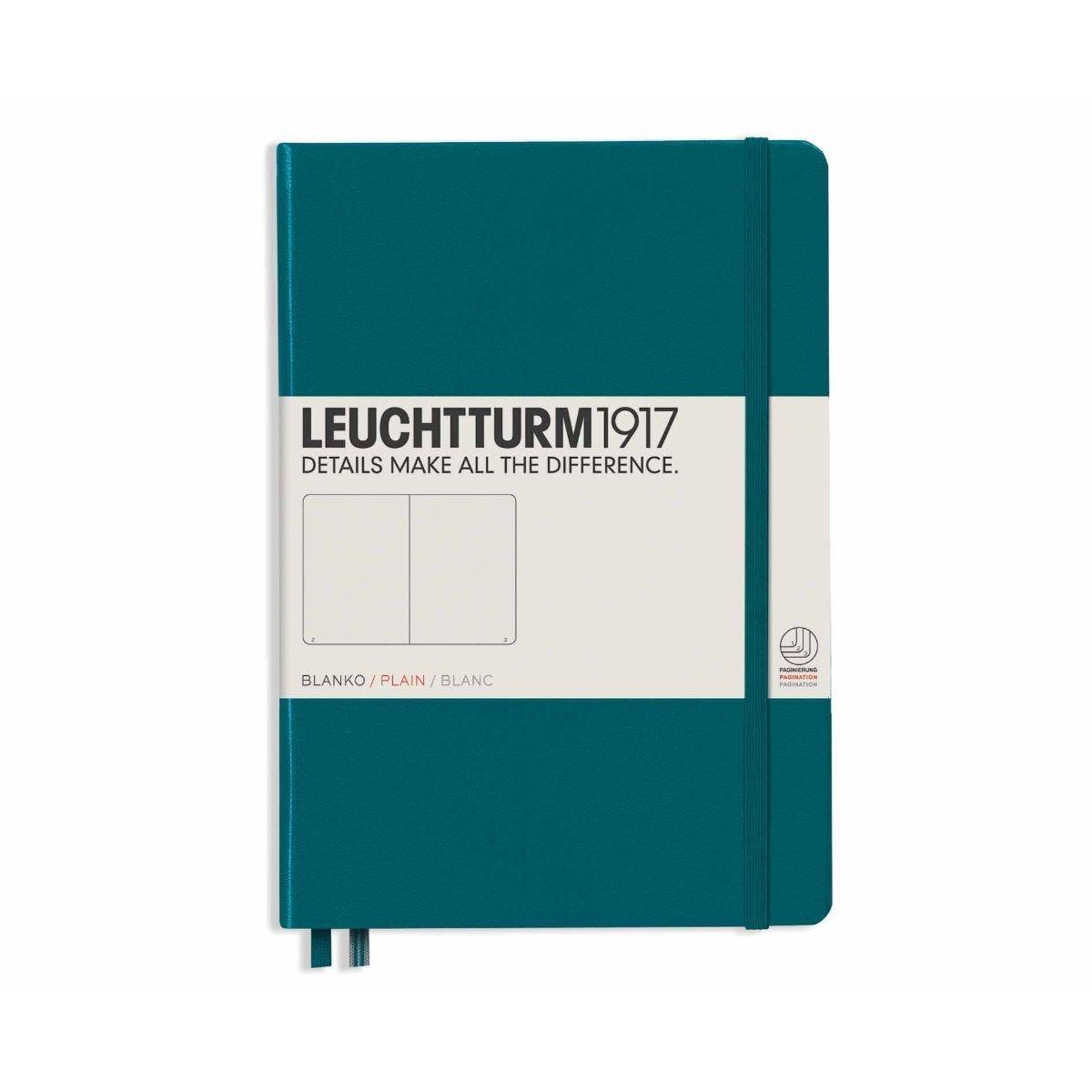 Leuchtturm1917 Hardcover Notebook Plain A5 Pacific Green