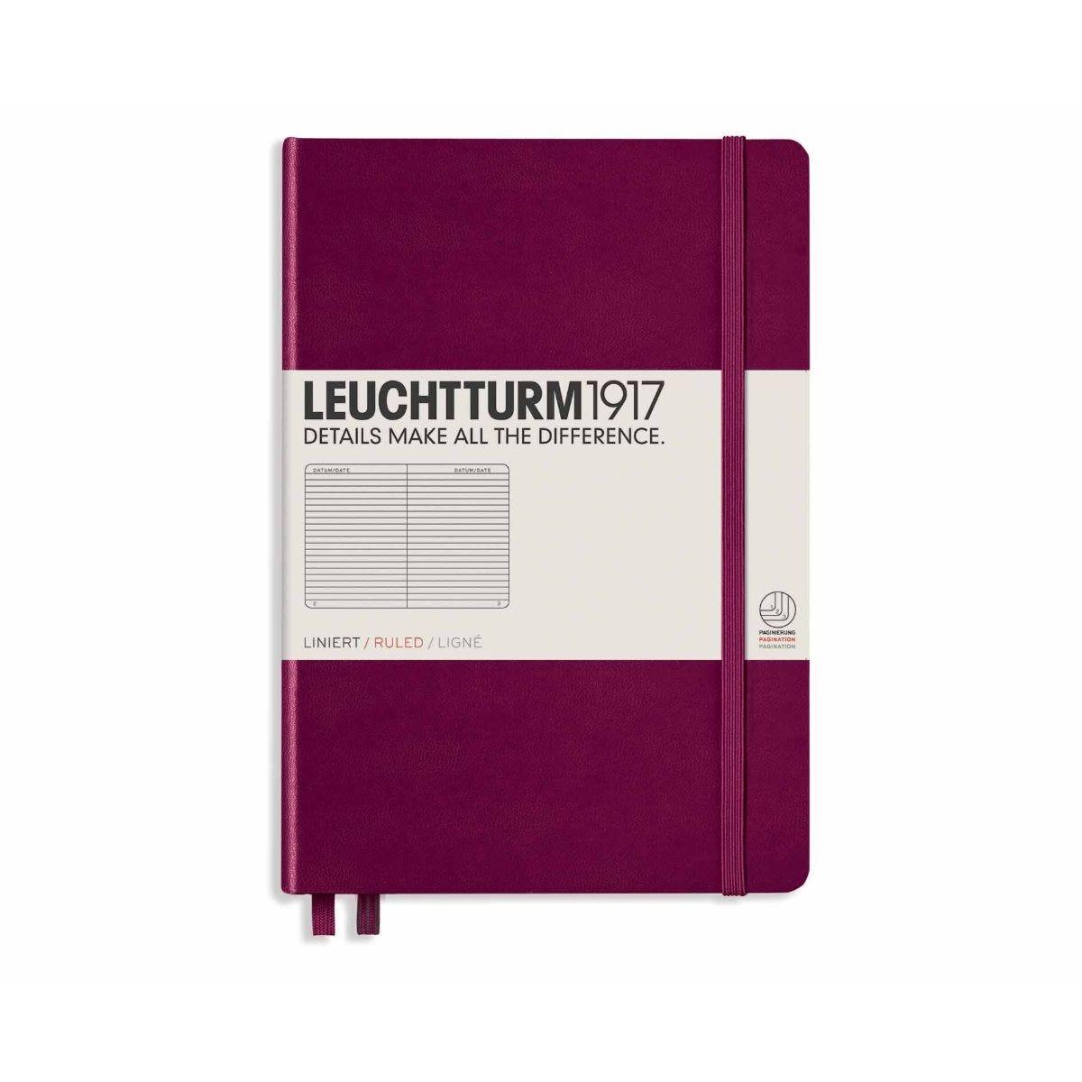 Leuchtturm1917 Hardcover Notebook Ruled A5 Port Red