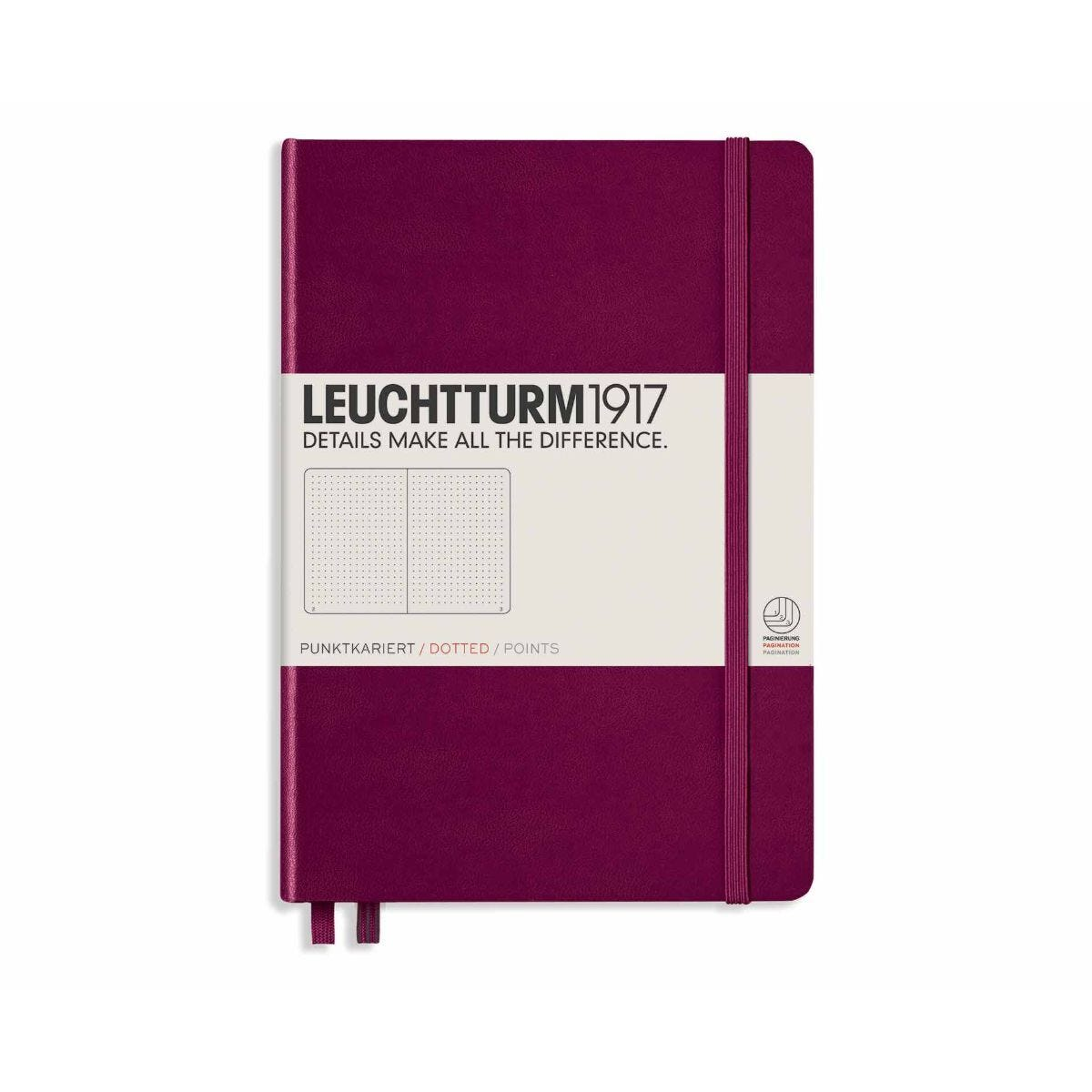 Leuchtturm1917 Hardcover Notedbook Dotted A5 Port Red