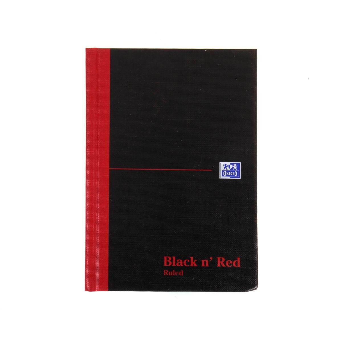 Oxford Black n Red A6 Notebook 192 Pages Casebound Hardback Ruled