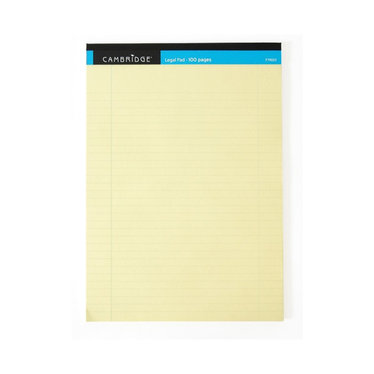 Cambridge Legal Pad Ruled and Margin 100 pages 70gsm Pack of 10