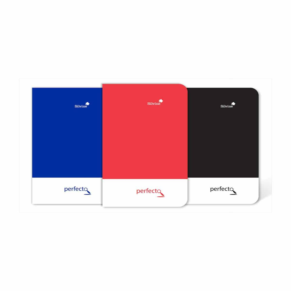 Silvine Perfecto Bound Notebook A6 Plus Ruled 160 Pages Assorted