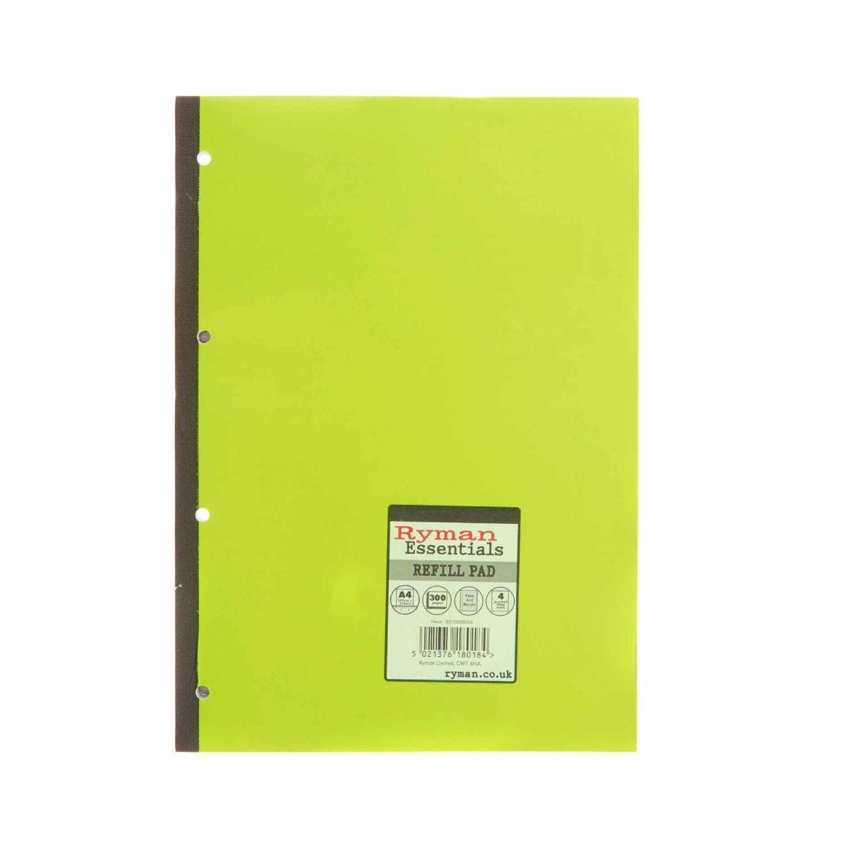 Ryman Essentials Promo Pad A4 300 Page Pack of 6 Green