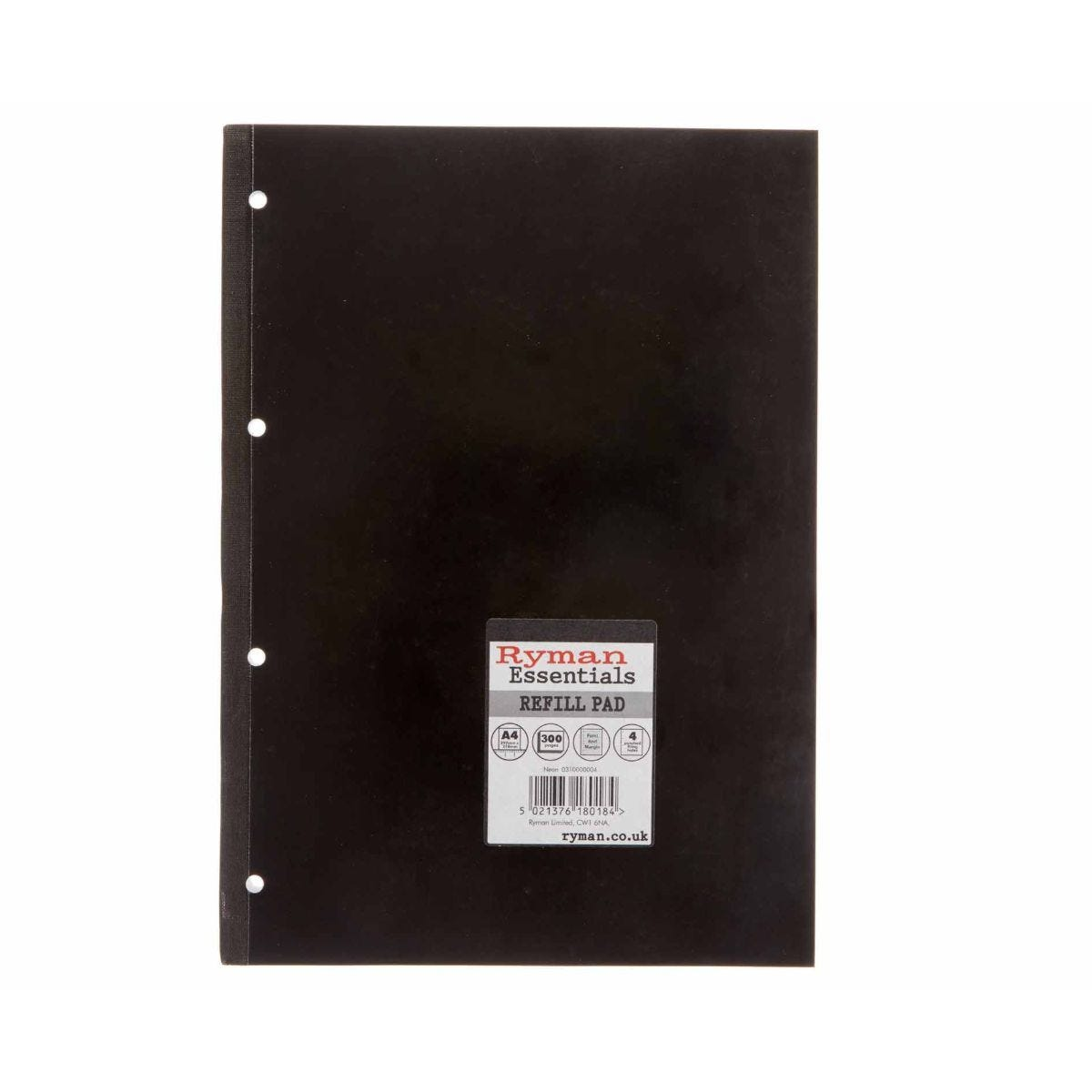 Ryman Essentials Promo Pad A4 300 Page Pack of 6 Black