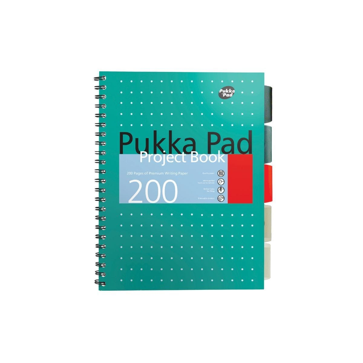 Pukka Metallic Project Pad B5 80gsm 200 Pages 100 Sheets Pack of 3