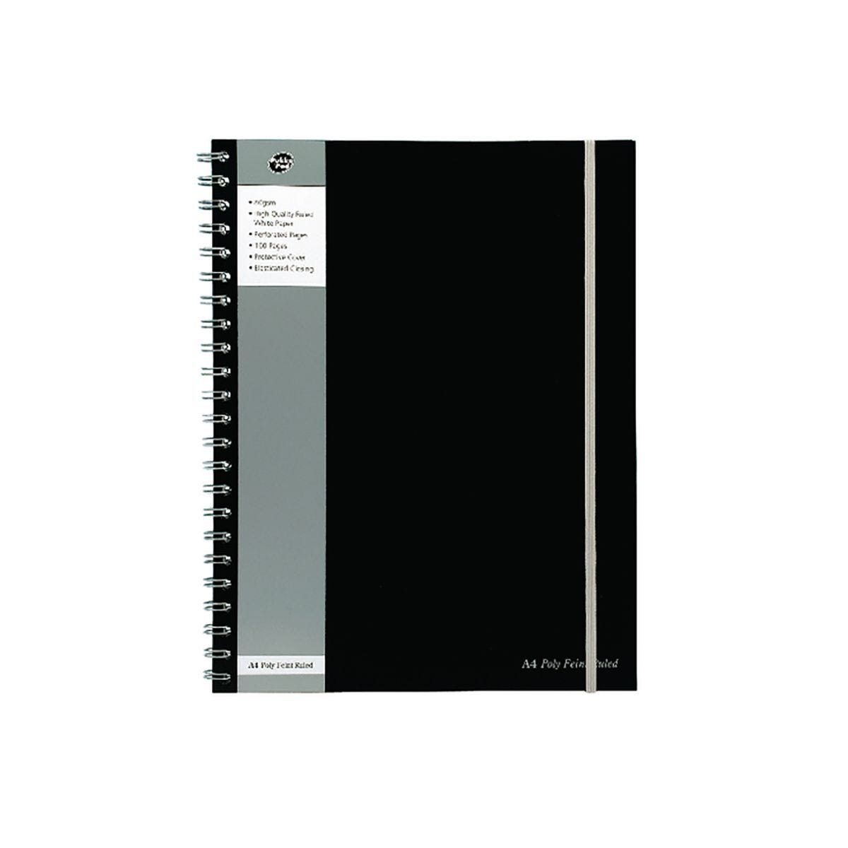 Pukka Black Jotta A4 Plus 80gsm 160 Pages 80 Sheets Pack of 3