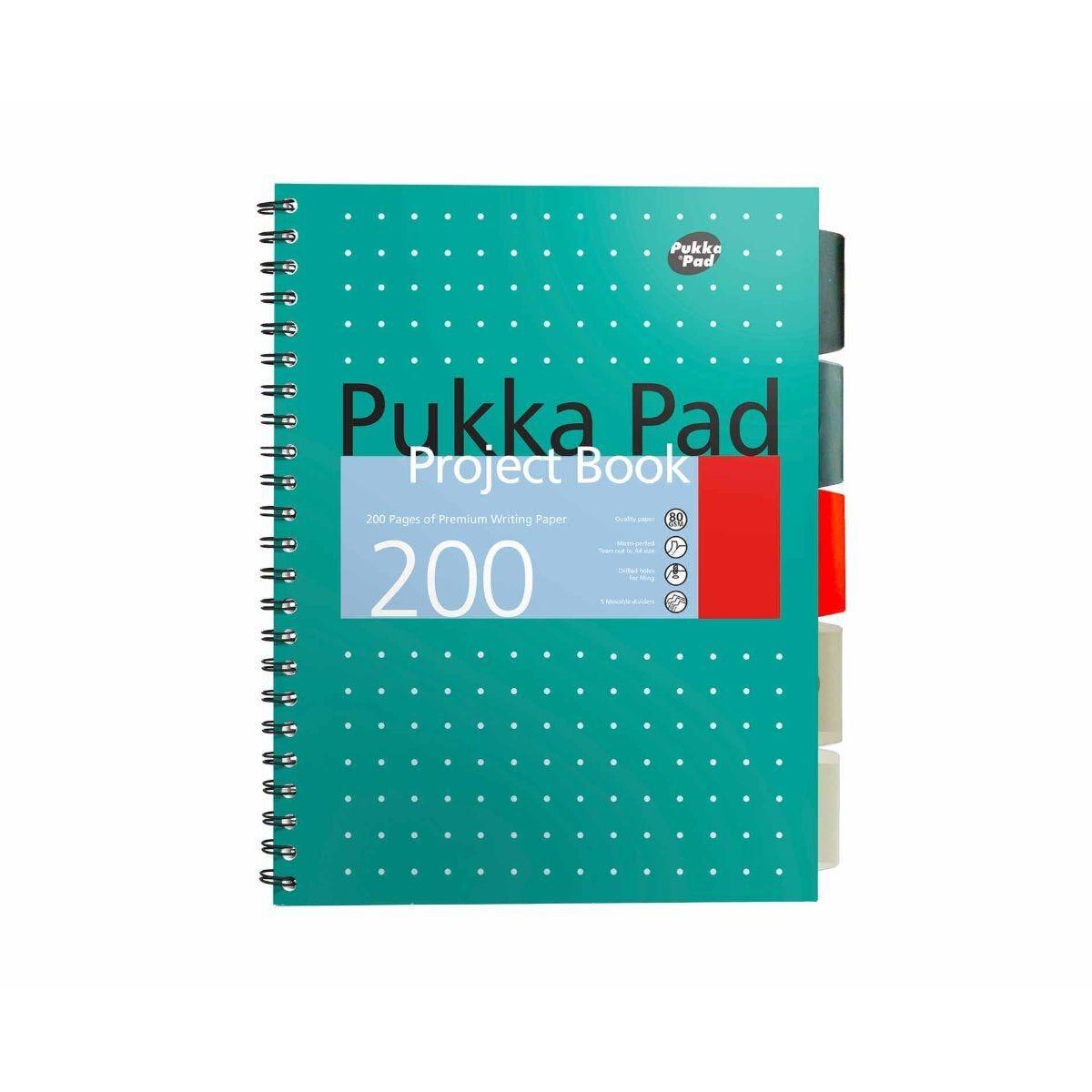 Pukka Project Book Pad A4 Metallic