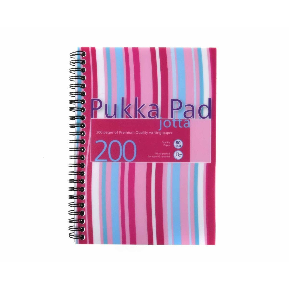 Pukka Jotta Pad A5 80gsm Ruled With Margin Wirebound 200 Pages 100 Sheets